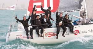 في الطواف العربي للإبحار الشراعي .. فريق إي.أف.جي يحصد المركز الأول في منافسات المرحلة الرابعة