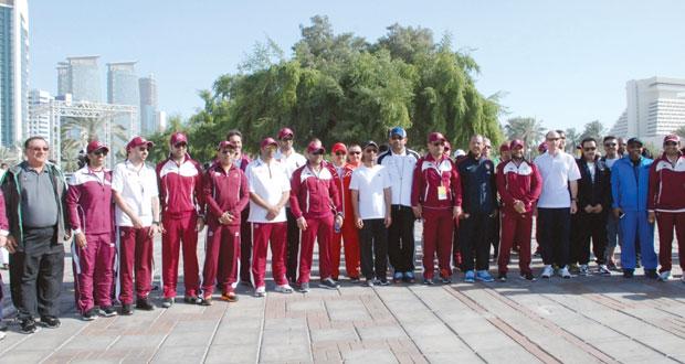 الأولمبية العمانية تشارك دولة قطر في احتفالها باليوم الرياضي