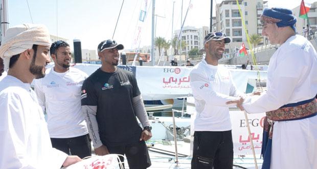 كامل بن فهد يرعى حفل انطلاق سباقات الطواف العربي للإبحار الشراعي اي. أف .جي لعام 2015