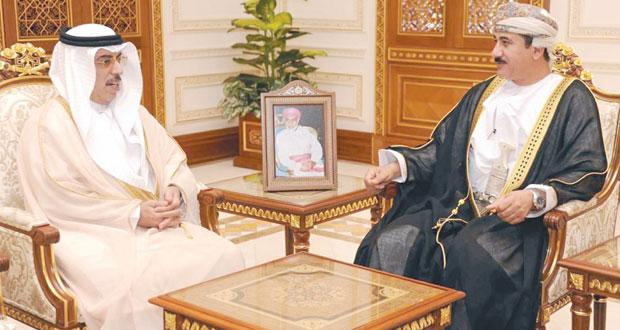 سلطان النعماني يستقبل سفيري الإمارات والبحرين