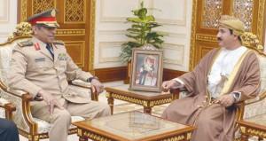النعماني والنبهاني يستقبلان رئيس هيئة الأركان العامة بالمملكة العربية السعودية