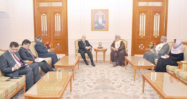 المنذري وأحمد الحارثي يستقبلان وزير خارجية العراق