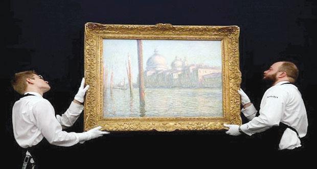 """بيع لوحة """"القناة الكبرى"""" لكلود مونيه بـ""""31 """" مليون يورو"""
