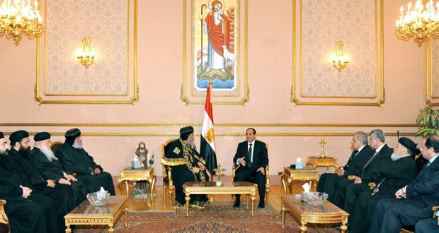 مصر تعلن الحداد 7 أيام وترد بضربات جوية ضد داعش في ليبيا