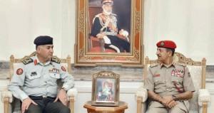 النبهاني يستقبل وفد هيئة التوجيه بكلية القيادة والأركان الأردنية