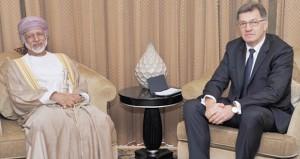 رئيس وزراء ليتوانيا يلتقي بالمنذري وبن علوي والفطيسي ويجتمع برجال الاعمال العمانيين ونظرائهم الليتوانيين
