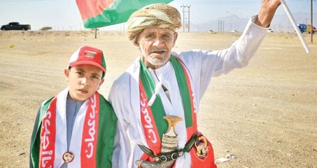 مسيرة حب وولاء بالمقدم السامي لجلالة السلطان بولايتي شناص وجعلان بني بوعلي