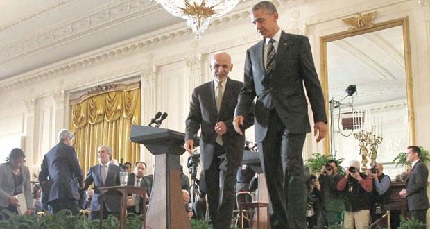 أفغانستان: تبطئ الانسحاب..وتسريع الإصلاحات..حصيلة مباحثات أوباما ـ غني
