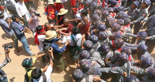 ميانمار: الشرطة تقمع مجددا تظاهرة طلابية