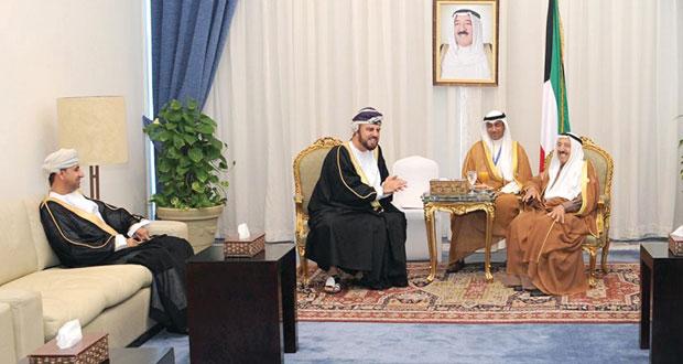 تحيات جلالة السلطان لصباح الأحمد وتميم بن حمد نقلها أسعد بن طارق