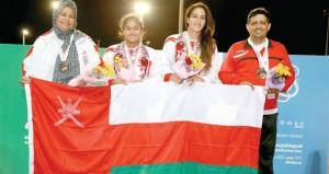 في فعاليات دورة رياضة المرأة الخليجية..منتخبنا لأم الألعاب يتوج بـ 7 ميداليات ملونة والنبهانية تكسب ذهب التنس