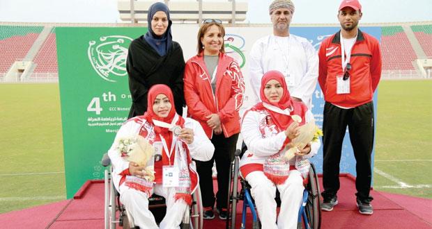 في فعاليات الدورة الرابعة لرياضة المرأة.. أبطال أم الألعاب لذوي الإعاقة يتوجون السلطنة بـ 7 ميداليات ملونة