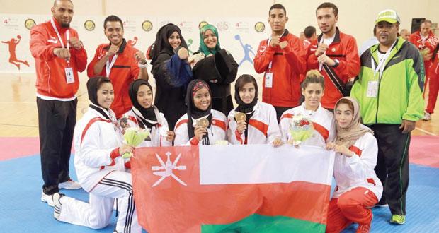 اليوم .. ختام الدورة الرابعة لرياضة المرأة الخليجية .. 4 ميداليات لمنتخب التايكواندو .. وقطر تتوج بذهبية اليد والسلطنة وصيفا