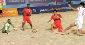 منتخبنا للقدم الشاطئية يلاقي اليوم لبنان في مباراة حسم التأهل لنهائيات البرتغال