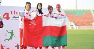 في فعاليات دورة رياضة المرأة الخليجية .. منتخبنا لأم الألعاب يتوج بذهبية وفضية وثلاث برونزيات في ختام المسابقة