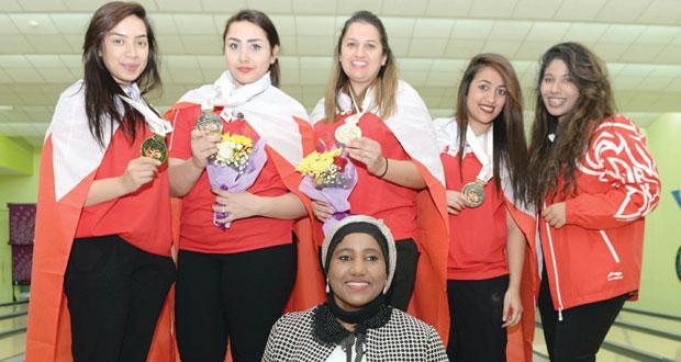 في دورة رياضة المرأة الخليجية .. البحرين تتوج بذهبية فرق البولينج والكويت تنال الفضية والإمارات البرونزية