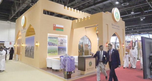 الخيالة السلطانية تختتم مشاركتها في معرض دبي الدولي للخيل