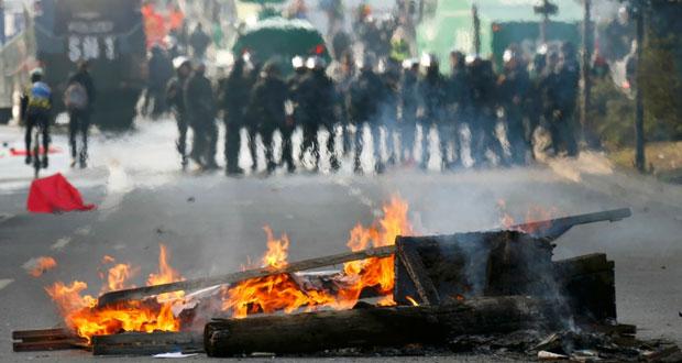 ألمانيا: إصابة واعتقال العشرات خلال احتجاج مناهض لـ(الرأسمالية) في فرانكفورت