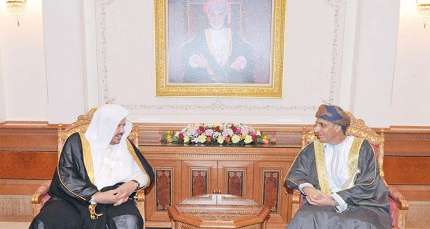 فهد بن محمود يستقبل رئيس مجلس الشورى السعودي