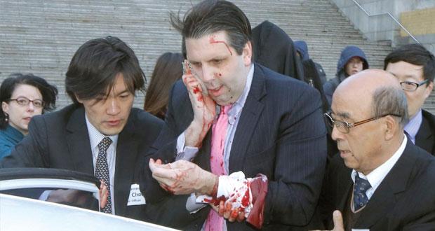 الاعتداء طعنا بالسكين على سفير أميركا بكوريا الجنوبية