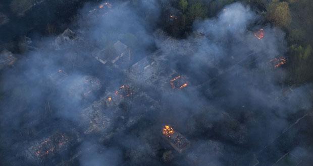 أوكرانيا:احتواء حريق قرب محطة (شرنوبل)