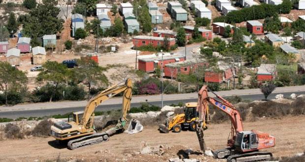 آليات الاحتلال تجرف أراض بسلفيت لتوسعة مستوطناتها