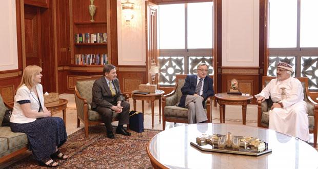 المنذري يستقبل رئيس جامعة جولينان البولندية