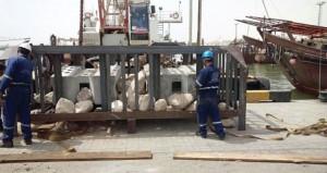 إنزال شعاب مرجانية صناعية بمحافظة جنوب الشرقية