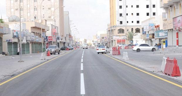الانتهاء من مشروع تأهيل وتطوير شارع السلام ونسبة الإنجاز بلغت (80%) في شارع الإنماء