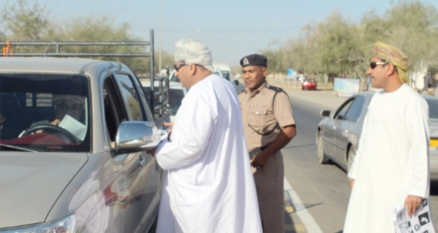 حملة في السلامة المرورية بولاية الخابورة