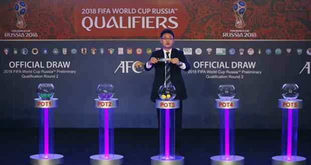 في قرعة التصفيات الآسيوية المؤهلة لكأس العالم 2018