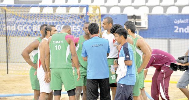 في دورة الألعاب الخليجية الشاطئية بالدوحة..منتخب الطائرة (أ) يواصل زحفه بجدارة واستحقاق نحو نهائي الدورة