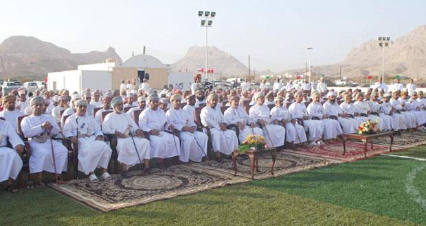 سعد المرضوف يرعى الاحتفال بافتتاح الملعب المعشب لفريق العارض بعبري