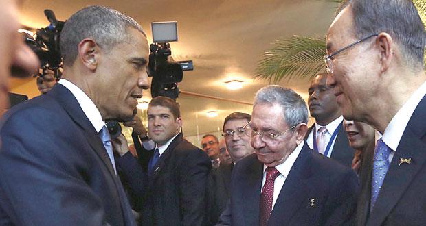 كاسترو يطلب إنهاء الحظر وأوباما يرى (نقطة تحول)