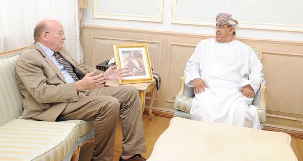 السعيدي يستقبل نائب رئيس جامعة كارديف البريطانية