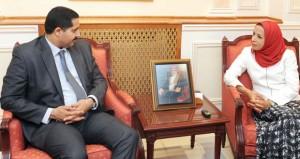 الشيبانية تستقبل كاتب الدولة للشؤون الخارجية بتونس
