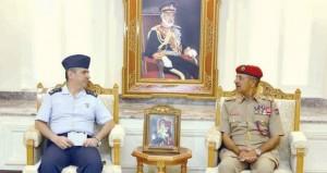 أحمد النبهاني يستقبل رئيس التعاون العسكري الدولي بجمهورية تركيا