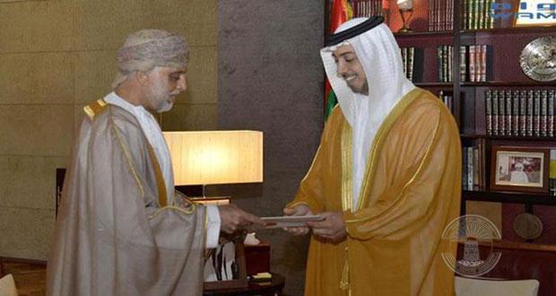 رسالة من جلالة السلطان لرئيس الإمارات