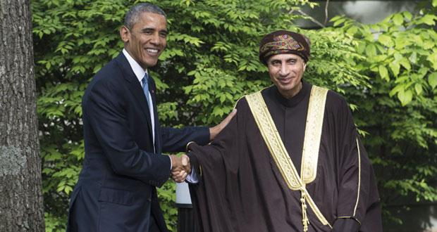 أوباما يشيد بالدور المحوري لجلالة السلطان فيما تم التوصل إليه من نتائج إيجابية بشأن البرنامج النووي