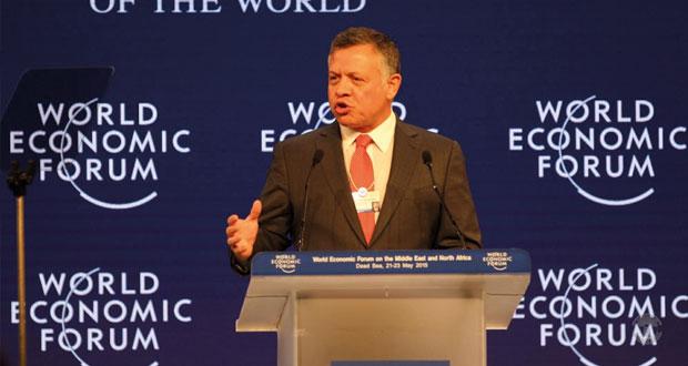 العاهل الأردني يفتتح المنتدى الاقتصادي العالمي ويؤكد على الطاقات البشرية واكتشاف الثروات