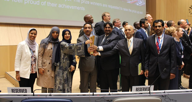 السلطنة تفوز بجائزة القمة العالمية لمجتمع المعلومات (WSIS) بسويسرا