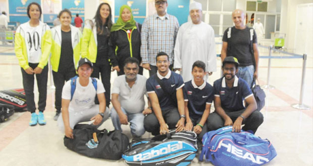 منتخب التنس يغادر إلى اندونيسيا للمشاركة في البطولة الدولية للتضامن الإسلامي