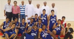 في دوري الشباب لكرة السلة..نزوى ينتزع كأس البطولة والسيب وصيفا وصحار ثالثا