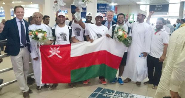 استقبال حافل لأفراد طاقم القارب العماني مسندم المدعوم من وزارة السياحة