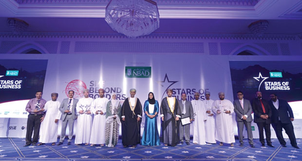 """السنيدي يرعى حفل تكريم وتوزيع جوائز """"نجوم الأعمال 2015″"""