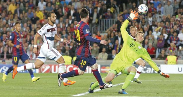 في دوري أبطال أوروبا .. برشلونة يسقط بايرن ميونيخ بثلاثية ويضع قدما في النهائي