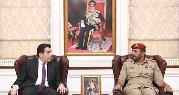 سالم قطن يستقبل وزير الدفاع القبرصي