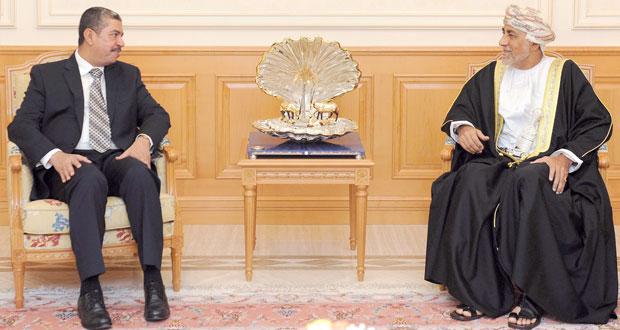 شهاب بن طارق يستقبل نائب الرئيس اليمني .. ويترأس وفد السلطنة في (تشاوري التعاون) اليوم