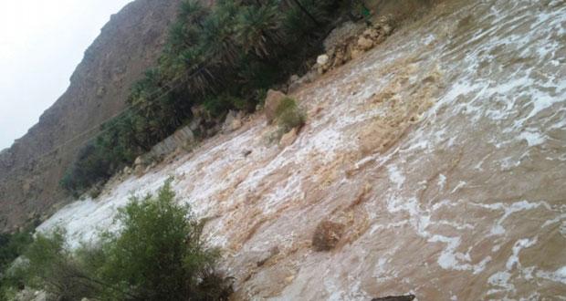 """جزيرة مصيرة تسجل 185 ملم كأعلى كمية هطول أمطار جراء """"أشوبا"""""""