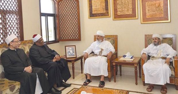 السالمي يستقبل وكيل الازهر الشريف والأمين العام لمجمع البحوث الاسلامية